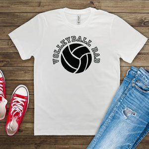 Volleyball Dad White tee shirt
